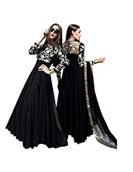 Designer Party Wear Anarkali Suit In Black Georgette Fabric