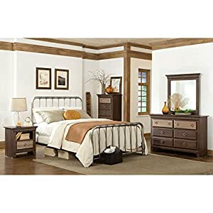 weatherly metal bedroom set