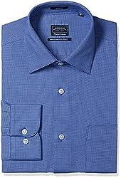 Arrow Men's Formal Shirt (8907378511416_ASSF0162_40_Dark Blue)