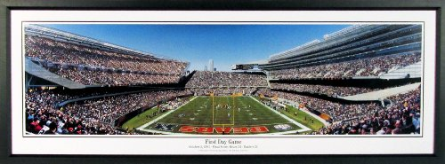 "Chicago Bears ""New"" Soldier Field First Day Game Panoramic Framed"