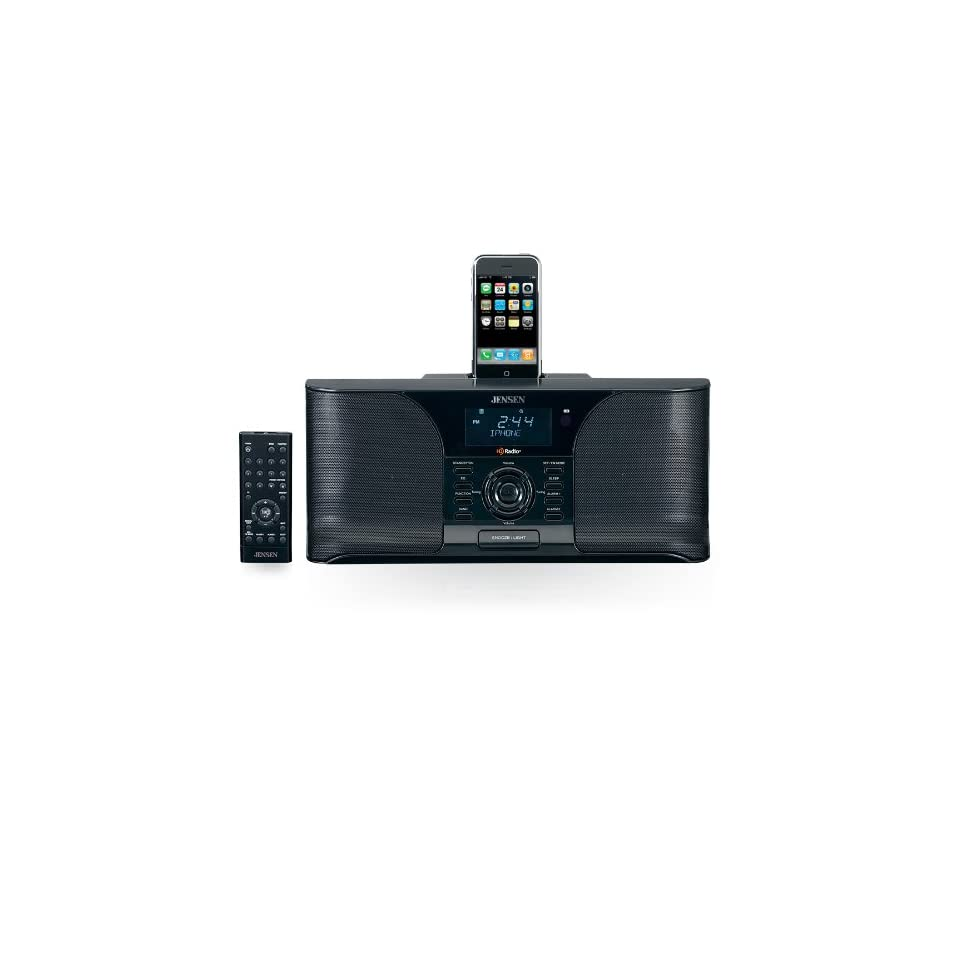 jensen jims 525i docking digital hd radio system alarm clock for ipod black on popscreen. Black Bedroom Furniture Sets. Home Design Ideas
