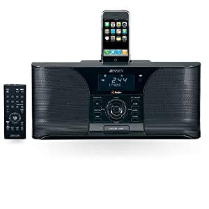 jensen jims 525i docking digital hd radio system alarm clock for ipod black. Black Bedroom Furniture Sets. Home Design Ideas