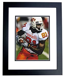 Justin Blackmon Autographed Hand Signed Oklahoma State Cowboys 8x10 Photo - BLACK... by Real Deal Memorabilia