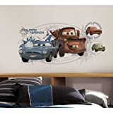Roommates Rmk1755Flt Disney Cars Mater Collage Peel And Stick Flat Pack With Augmented Reality
