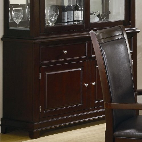 Cheap Sideboard Contemporary Style in Warm Walnut Finish (VF_101634B)