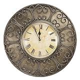Decoritte Iron And Glass Antique Theme Wall Clocks (15.5 Cm X 15.5 Cm X 2 Cm, 83677)