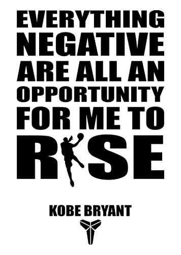 Kobe Bryant Famous Quotes Wall Decals/ Basketball Wall Decals/Motivational Quotes Wall Art Decals: A Wall Decal Stickers All Star Sports