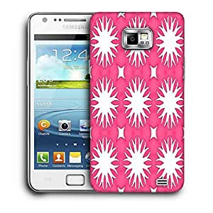Snoogg Abstract White Pink Pattern Printed Protective Phone Back Case Cover For Samsung Galaxy S2 / S II