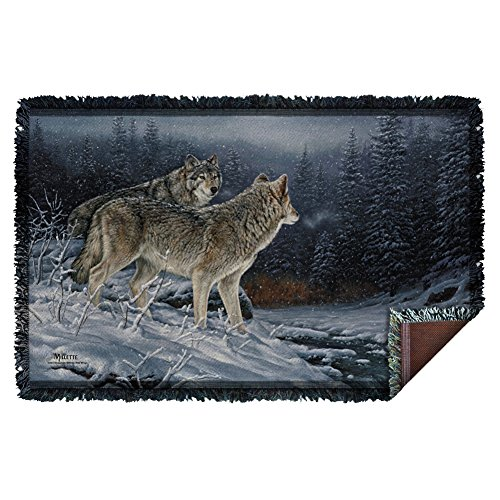 Wild Wings Twilight Hunters Woven Throw WW366TAP