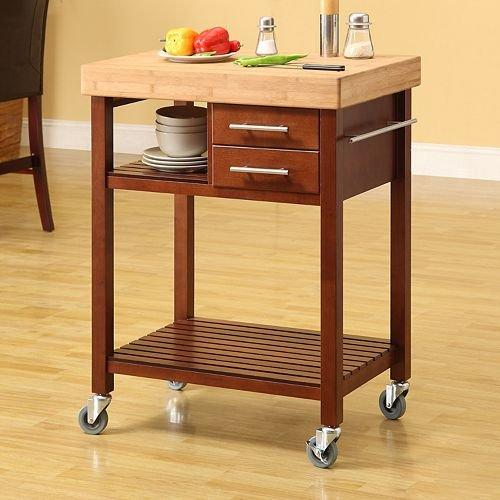 buy low price linon granite top kitchen cart 46460walgt