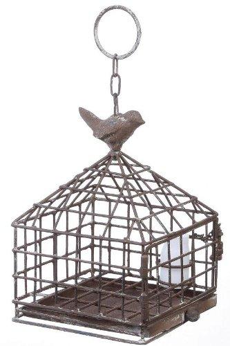 Iron Birdcage With Feeder, 6