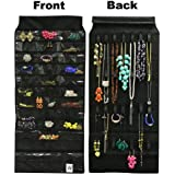 Wrapables 39 Pocket & 28 Hook Hanging Jewelry Organizer for Bedroom and Closet