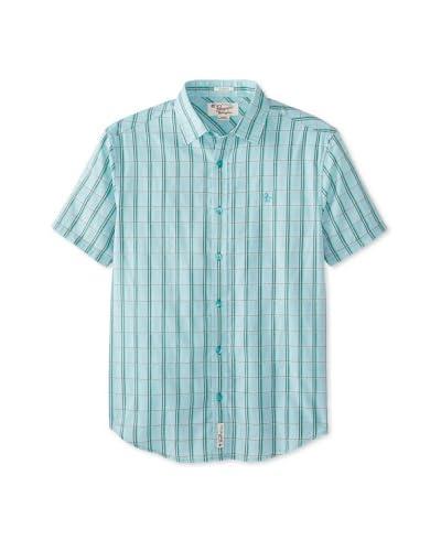 Original Penguin Men's Short Sleeve Double Lined Plaid Shirt