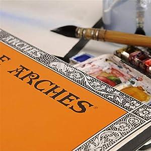 Arches Watercolor Paper Pad, 140 pound, Hot Press, 9x12