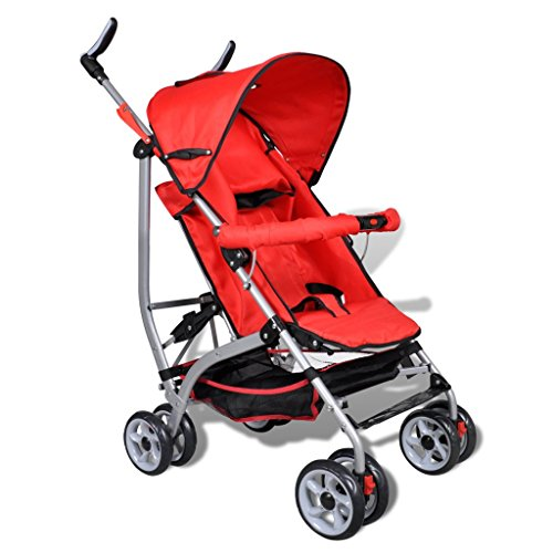 Contemporary Baby Toddler Travel Baby Buggy Infant Home Cycling 5-Position Red