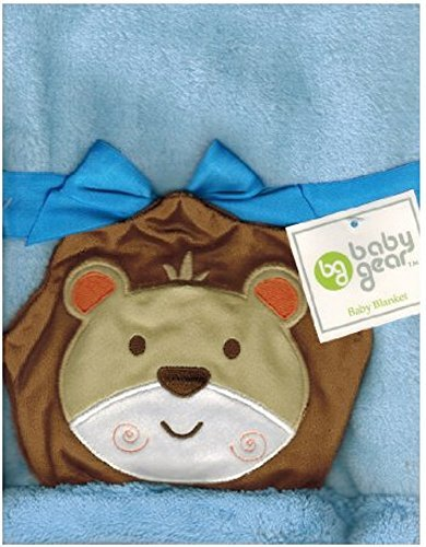 Blue Lion Baby Blanket By Baby Gear