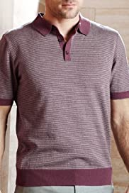 Collezione Cotton Rich Feeder Stripe Polo Shirt with Cashmere [T30-3935C-S]