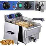 Commercial Electric 10L Deep Fryer w/ Timer and Drain Stainless Steel French Fry