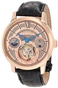 Stuhrling Original Men's 296C.3345X34 Tourbillon Limited Edition Imperial Tourbillon SE Mechanical Dual Time Rose Tone Watch