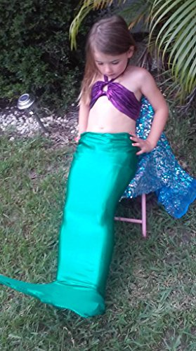 Swimable Mermaid Tail Green 8/9yrs