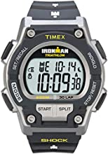 Timex Ironman Men's Quartz Watch with LCD Dial Digital Display and Black Resin Strap - T5K195