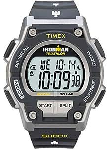 Timex - T5K195SU - IRONMAN Endure Shock 30 LAP - Montre Sport Homme antichoc - Bracelet Résine - Chronomètre - Mémoire de 30 circuits