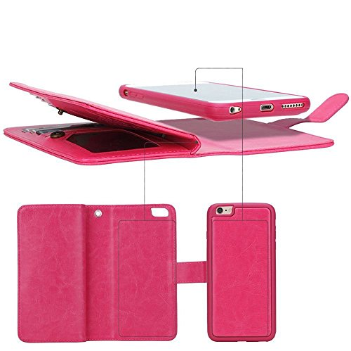 Summer-Clearance-Sale-Day-2016-Valentoria-Premium-Vintage-Leather-Wallet-Case-Magnetic-Detachable-Slim-Back-Cover-Card-Holder-Slot-Wrist-Strap-CaseiPhone-55s-Hot-Pink