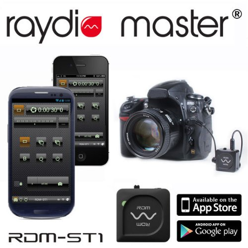 Raydio Master SC-2 Professional Bluetooth 4.0 Camera Shutter Release Trigger RDM-ST1 Intervalometer for Canon EOS 70D, 60D, 60Da Canon EOS 700D, (Digital Rebel T5i) Canon EOS 650D, (Digital Rebel T4i) Canon EOS 600D, (Digital Rebel T3i) Canon EOS 550D, (Digital Rebel T2i) Canon EOS 500D, (Digital Rebel T1i) Canon EOS 450D, (Digital Rebel XSi) Canon EOS 400D, (Digital Rebel XTi) Canon EOS 350D, (Digital Rebel XT) Canon EOS 300D, (Digital Rebel) Canon EOS 1000D, 1100D, (Digital Rebel T3) Canon EOS 30, 33, 50, 500, 500N, 55, 50E, etc. Canon EOS 300V, 300, 300X, 3000. Canon EOS kiss, new kiss, kiss7. kissIII, 7, 7s, EOS KISS X2, Kiss Digital, Kiss Digital N, ELAN 7N, ELAN II, ELAN DATE, ELAN 7, ELAN 7NE, ELAN 7N, ELAN IIE, Rebel 2000, Rebel G, Pentax *ist, *istD, *istDL, *istDs, *istD2, *istDL2, K10D, K20D, K100D, K100D Super, K110D, K200D, K5, K7, K-30 MZ-6, ZX-L, MZ-L, Contax N1, NX 645, N/645, N Digital, Samsung GX-1L, GX-1S, GX-10, GX-20