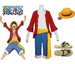 One piece monkey d luffy cosplay costume 2 ans plus tard monkey d luffy costume combinaison - One piece 2 ans plus tard luffy ...