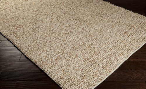 "Surya Desoto Dso-201 Transitional Hand Woven 100% Wool Dark Beige 2'6"" X 8' Runner"