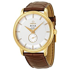Omega De Ville Prestige Automatic Diamond Yellow Gold Mens Watch 4613.35.02