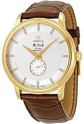 Omega De Ville Prestige Automatic Diamond Yellow Gold Mens Watch 4613.35.02