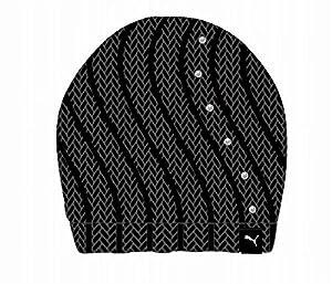 PUMA Damen Mütze Women Bling Beanie, Black, One size, 830135 01