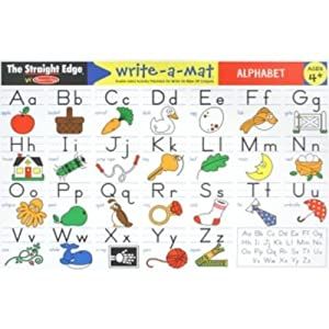 Melissa &amp; Doug Alphabet Write-A-Mat