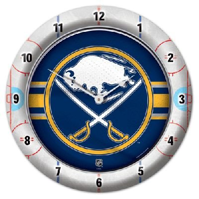 Roundclock Buffalo Sabres 10 Inch Round Game Time Clock National Hockey League Hokey Nhl Sport Team University College Fan Accessories
