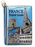 France Travel Guide Polish Mouth Blown Glass Christmas Ornament