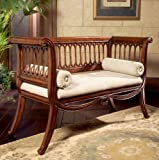 Butler Specialty 0284011 English Settee Entryway Bench, Antique
