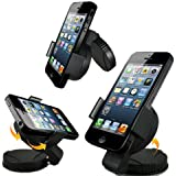 A&M Support voiture universel avec Fixation Pare brise/Tableau de bord pour iPhone 4S/5/Samsung Galaxy S2/S3/S4/HTC One/Sony Xperia/Nokia /LG/GPS TomTom/Garmin