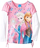 Disney Little Girls'Frozen Elsa and Anna Tee