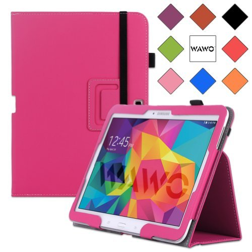 Wawo Samsung Galaxy Tab 4 10.1 Inch Tablet Smart Cover Creative Folio Case - Pink