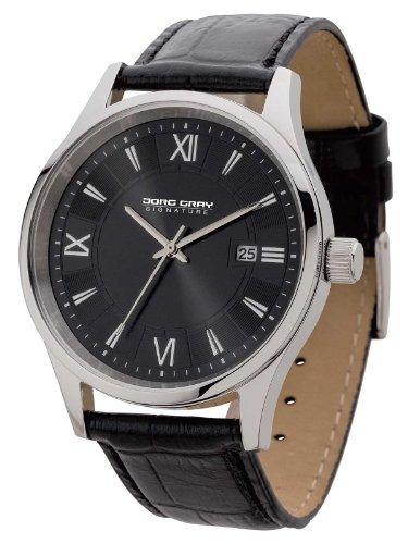 Jorg Gray Signature  JGS2580 - Reloj de cuarzo para hombre, con correa de cuero, color negro