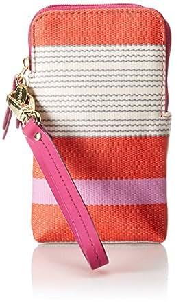 Fossil Keyper Carry All Case Wallet,Pink Stripe,One Size