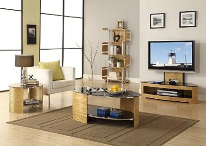 Cheap  Curve Cantilever TV Stand Finish: Oak