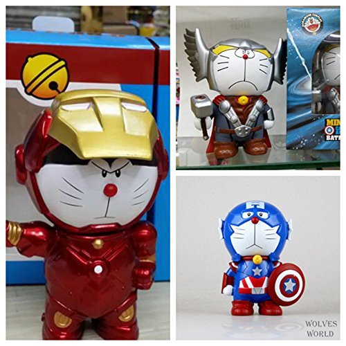 chch-new-sound-anime-captain-america-secret-props-cos-a-dream-doraemon-doraemon-piggy-bank-raytheon-