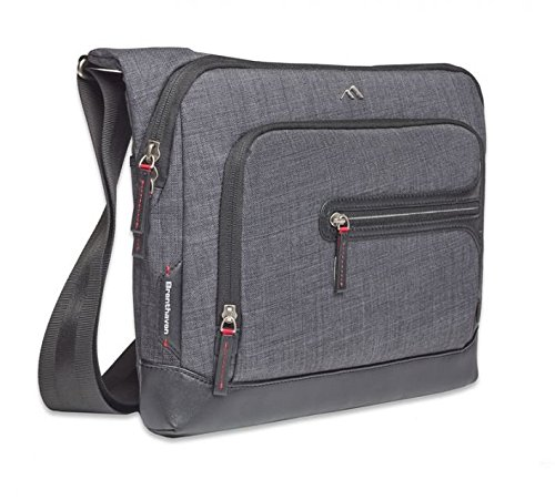 """Brenthaven 13"""" Collins Courier Bag, Graphite Gray"""