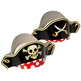 Adorox Paper Skull Swords Pirate Hats Party Favor Birthday (Pirate Hat (12 Hats))