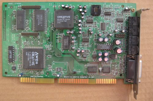 Creative Labs CT4170 16-Bit ISA Sound Blaster 16 Sound Card TESTED Game Port