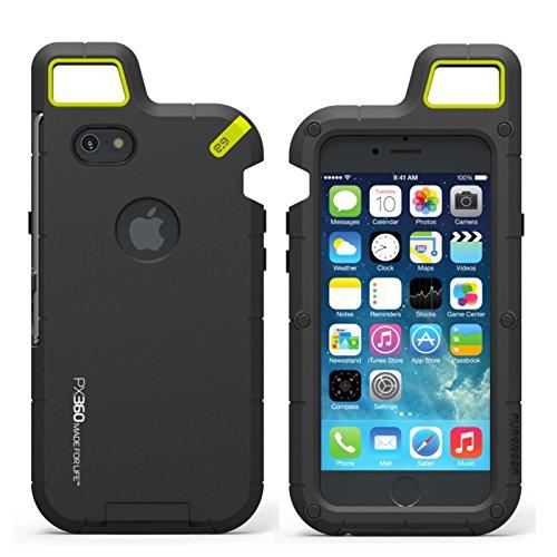 日本正規代理店品 iPhone6 4.7インチ 対応 カラビナで吊るせる耐衝撃ケース PureGear PX360 Extreme Protection System foriPhone6 ピュアギア アイフォン6 ケース au docomo ドコモ SoftBank ソフトバンク (ブラック)