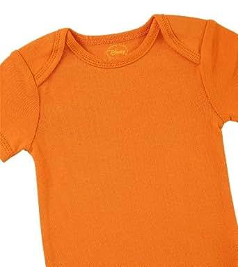 "Disney Cuddly Bodysuit with Grow an Inch Snaps, Lion King ""Big Roar""  3 Pack, Brown/Orange/Green, 0-3 Months"