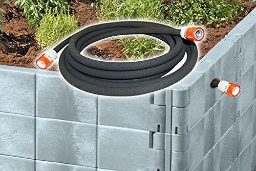 Juwel Bewässerungssystem für Hochbeet Gr. 2 m. Perlschlauch u. Gardena Schlauchkupplung 20098